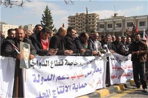 استمرار اعتصام المزارعين لليوم السابع على التوالي