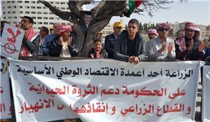 المزارعون يواصلون اعتصامهم