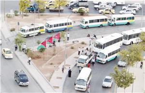 مأدبا: إضراب لحافلات النقل العمومي بالعريض