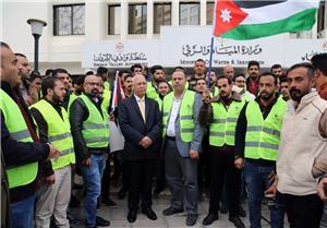 مهندسو الطفيلة يعتصمون أمام وزارة المياه